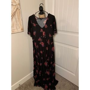 Torrid size 2 floral maxi dress